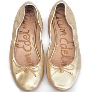 Sam Edelman Felicia Flat in Metallic Gold 7 Wide